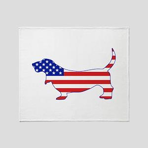 American Basset Throw Blanket