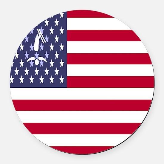 Team Freestyle USA Round Car Magnet