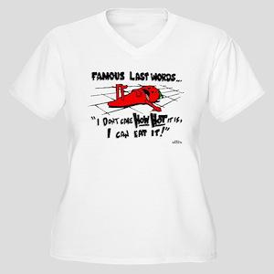 Famous Last Words Women's Plus Size V-Neck T-Shirt