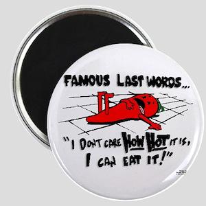 Famous Last Words Magnet