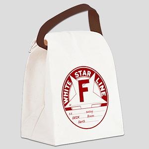 White Star Line Luggage Tag- No N Canvas Lunch Bag