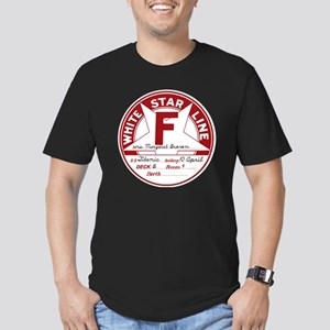 White Star Line Luggag Men's Fitted T-Shirt (dark)