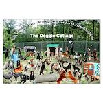 Doggie Cottage Large Poster