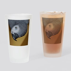 African Grey Parrot face Drinking Glass
