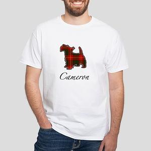 Clan Cameron Scotty Dog White T-Shirt