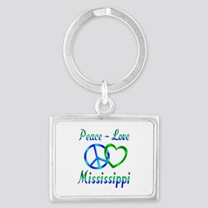 Peace Love Mississippi Landscape Keychain