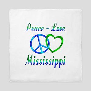 Peace Love Mississippi Queen Duvet