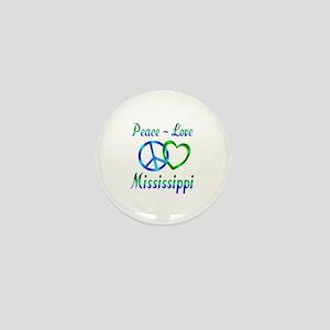 Peace Love Mississippi Mini Button