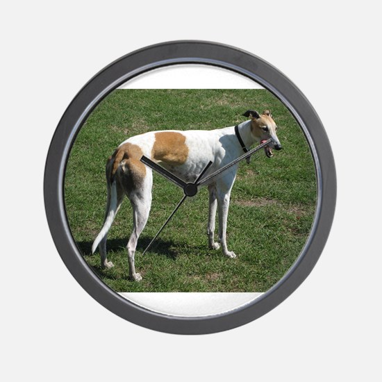 greyhound full Wall Clock