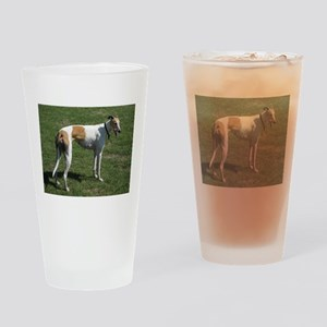 greyhound full Drinking Glass