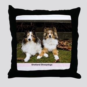 Shetland Sheepdogs Throw Pillow