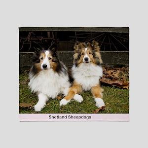 Shetland Sheepdogs Throw Blanket