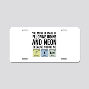 Chemsitry F I Ne (Fine) Aluminum License Plate