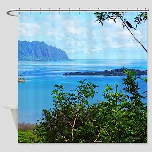 Coconut Island Kaneohe Bay Shower Curtain