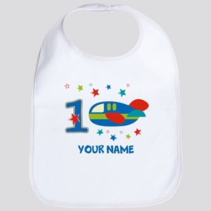 1st Birthday Airplane Bib