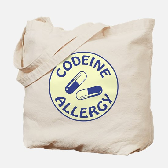 CODEINE ALLERGY Tote Bag