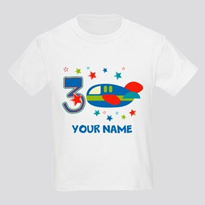 3rd Birthday Airplane Kids Light T-Shirt