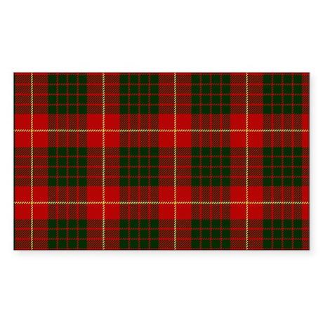 Clan Cameron - Just Tartan Rectangle Sticker
