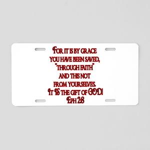 Eph 2:8 Aluminum License Plate