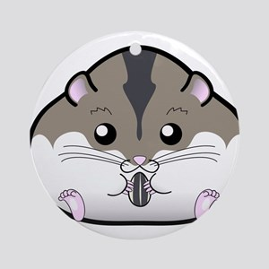 Fat Russian Dwarf Hamster Ornament (Round)