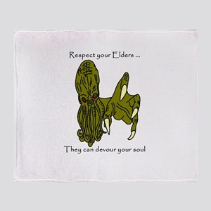 Respect your Elders Cthulhu Throw Blanket