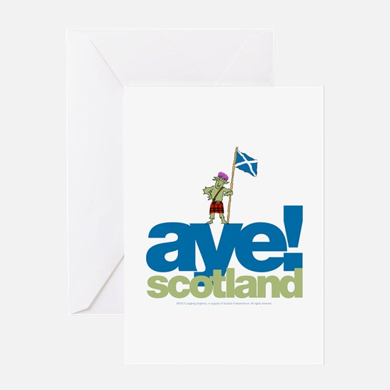 Aye Scotland Greeting Card
