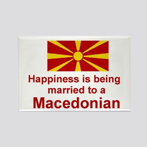 Happily Married To Macedonian Rectangle Magnet
