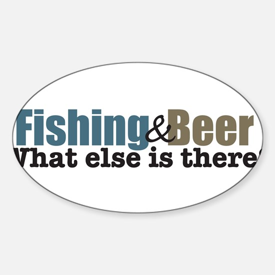 Fishing and Beer Decal
