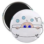 Baby Peeking From Bathtub Magnets