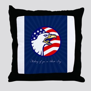 Thinking of You on Patriot Day Card Throw Pillow