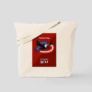 Patriot Day We Remember 911 Poster Card Tote Bag