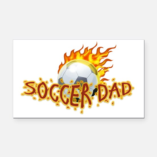 Soccer Dad! Rectangle Car Magnet