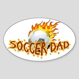 Soccer Dad! Sticker (Oval)
