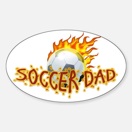 Soccer Dad! Sticker (Oval)