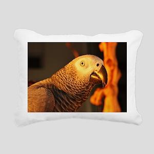 African Grey Parrot in G Rectangular Canvas Pillow