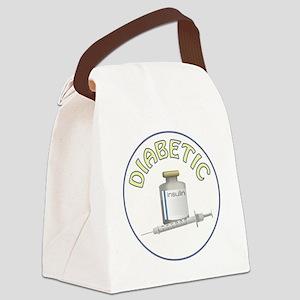DIABETIC Canvas Lunch Bag