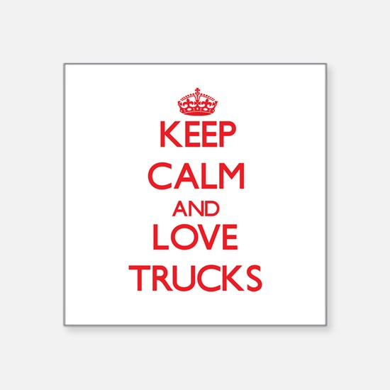 Keep calm and love Trucks Sticker