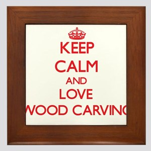 Keep calm and love Wood Carving Framed Tile