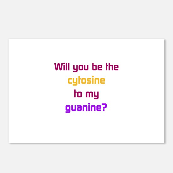 Will You Be the Cytosine to My Guanine? Postcards