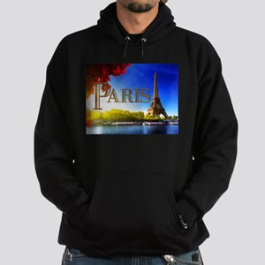 Paris and Eiffel Tower on the Seine. Hoodie