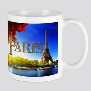 Paris and Eiffel Tower on the Seine. Mugs