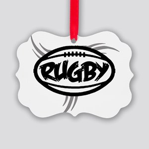 Rugby Tribal Ornament