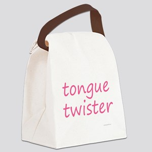 tongue twister pink Canvas Lunch Bag