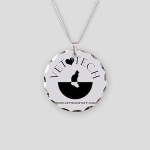 vet tech Necklace Circle Charm