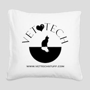 vet tech Square Canvas Pillow
