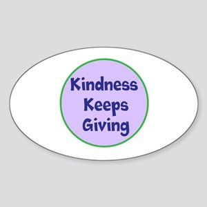 Kindness Keeps Giving Sticker