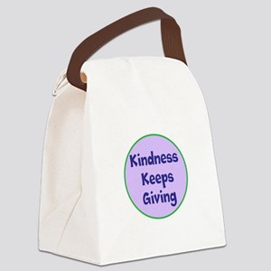 Kindness Keeps Giving Canvas Lunch Bag
