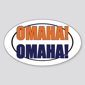 Omaha Omaha Sticker (Oval)