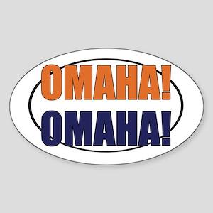 Omaha Omaha Sticker (Oval)
