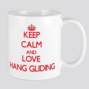 Keep calm and love Hang Gliding Mugs